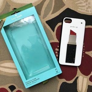 Used Kate Spade Lipstick phone case iPhone 7